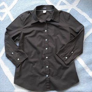 J.Crew / Brown Button Down / Large